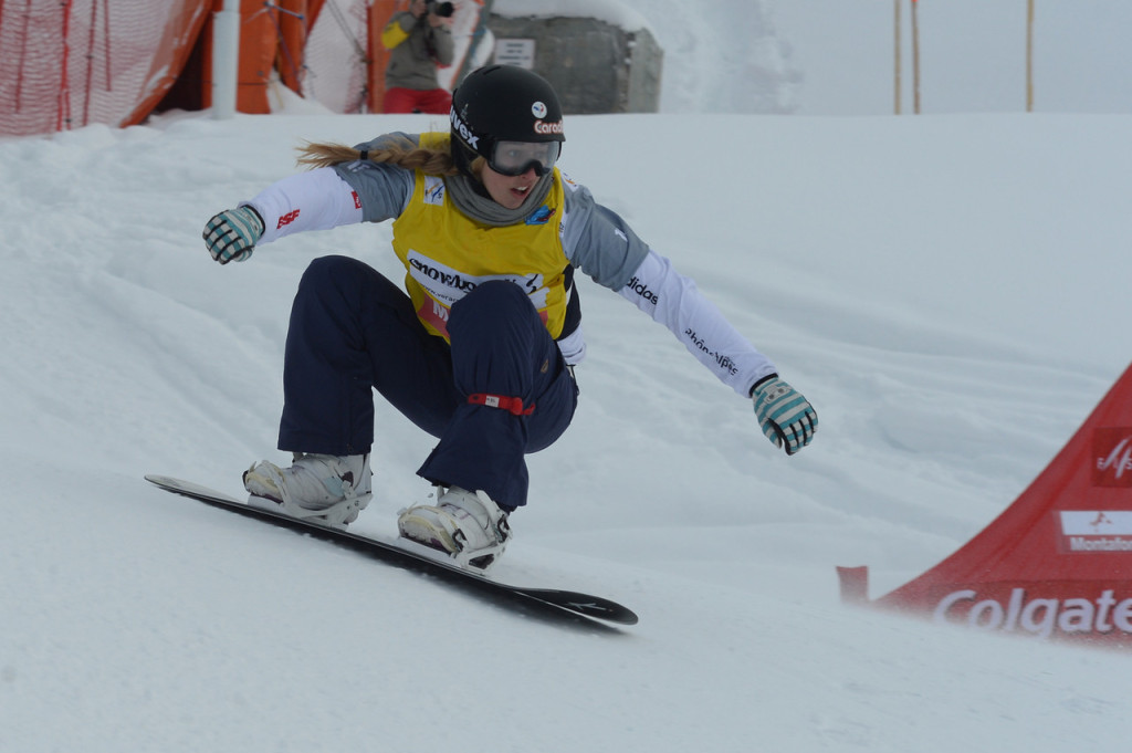 Chloe Trespeuch (FRA) rides to fourth rank at SBX World Cup at Montafon  © FIS