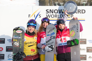 Podium Filles Snowboard Cross - Lake Louise