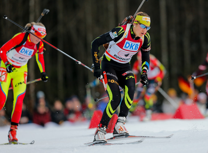 la France 5e du relais de Biathlon - Ruhpolding 2014 - Credit Photo : Agence Zoom