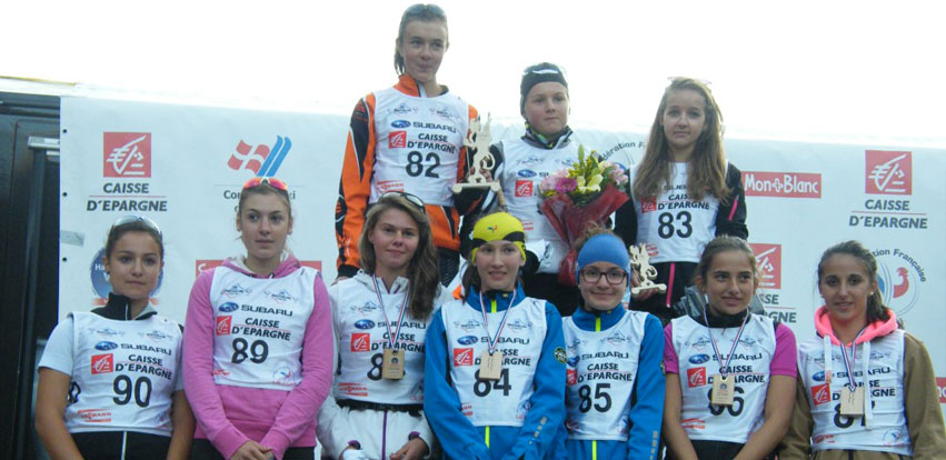 Podium Dames Cadets