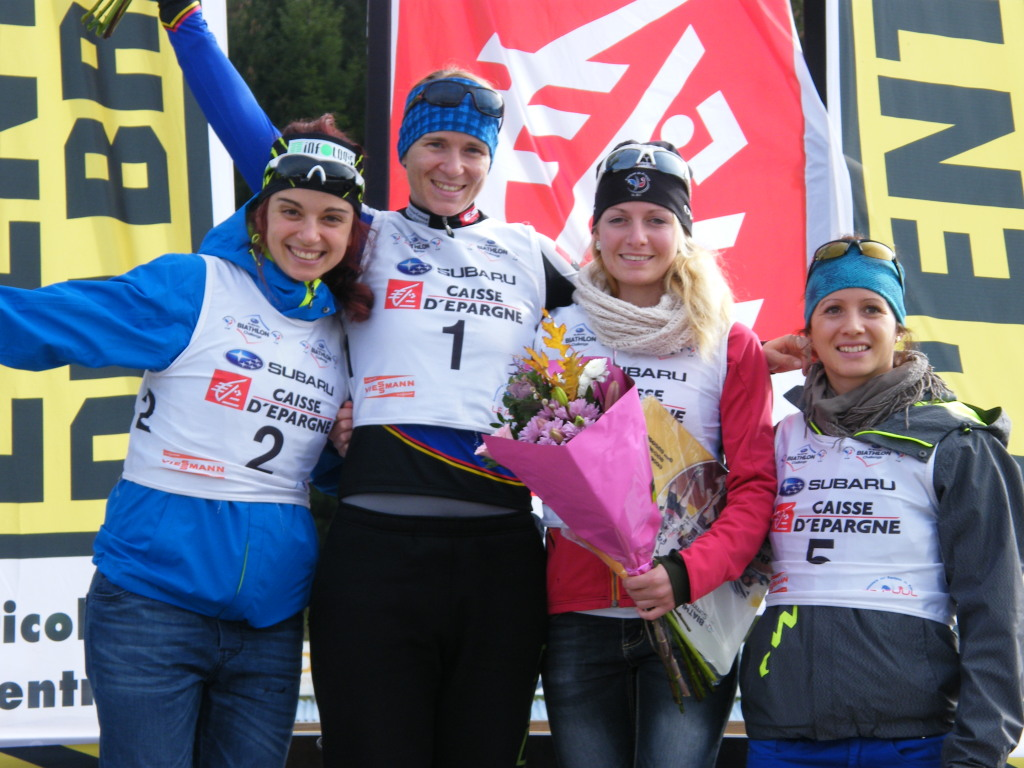 Podium Dames Sprint