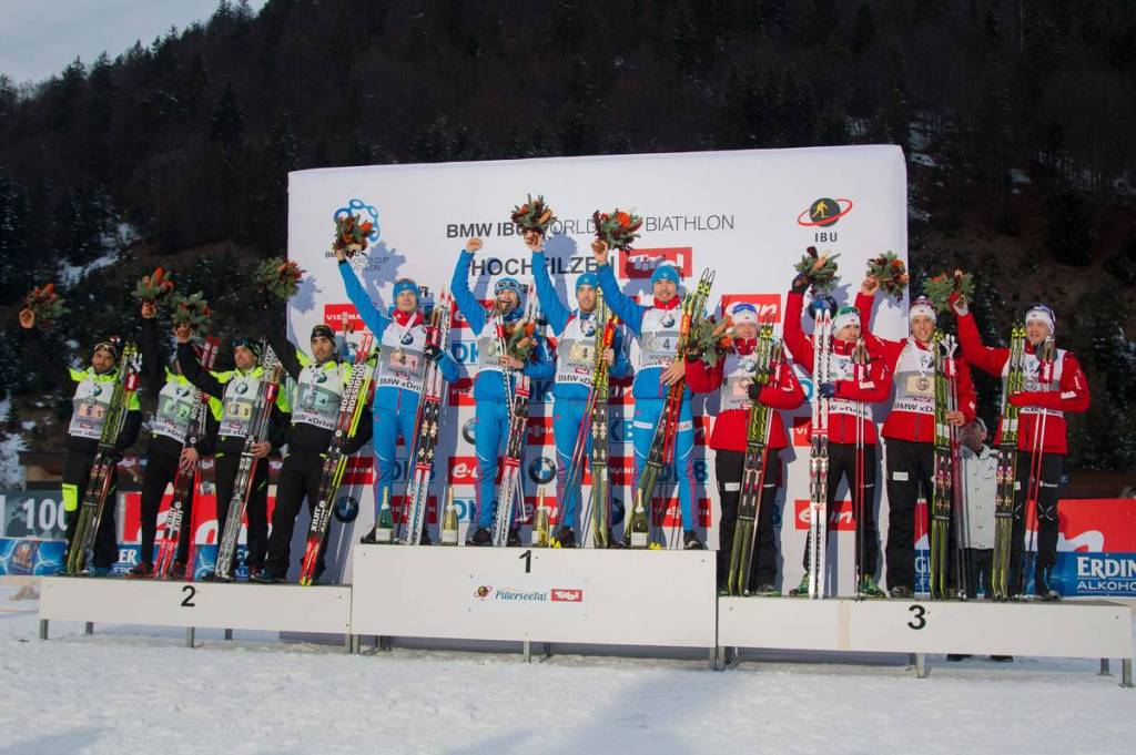 IBU world cup biathlon, relay men, Hochfilzen (AUT)