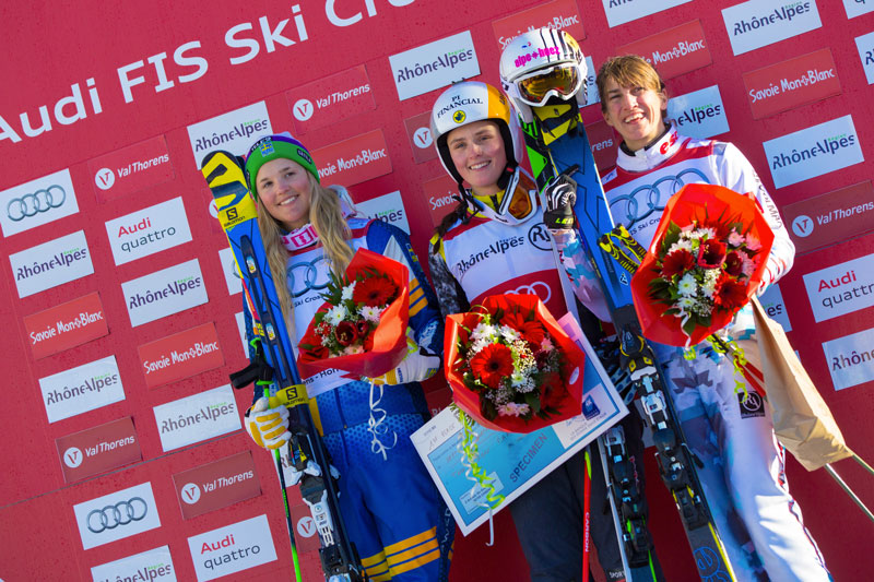 Ophelie David sur le podium - Laurent Salino/Agence Zoom