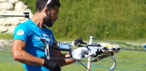 Simon Fourcade à l'action à la Féclaz