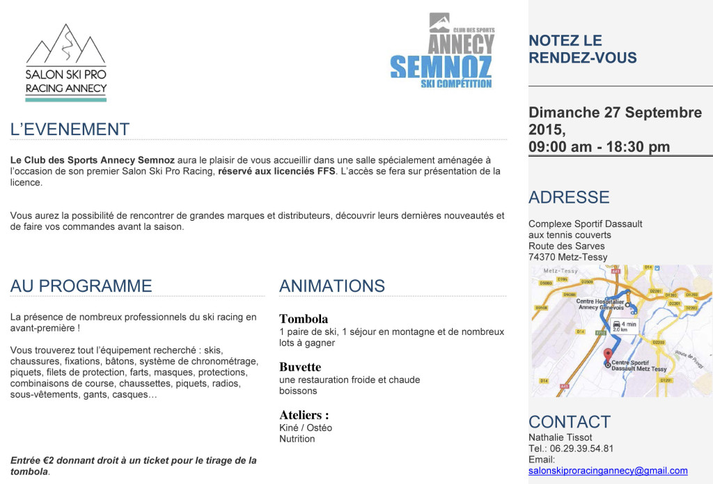 INVITATION_FLYER Salon Ski Pro Racing Annecy
