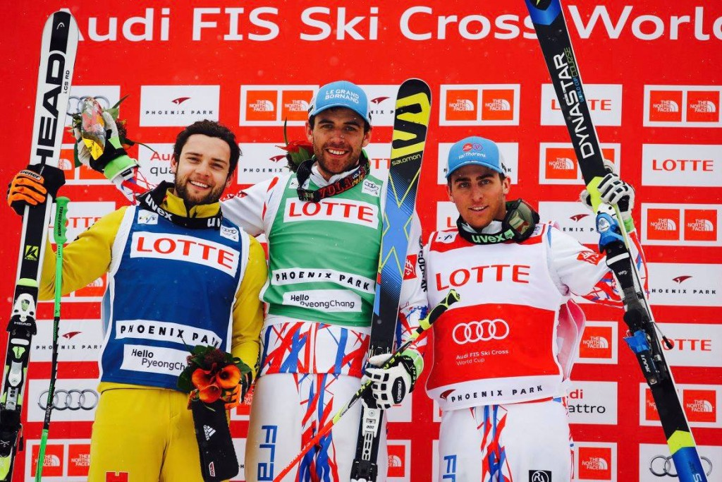 Ski cross podium