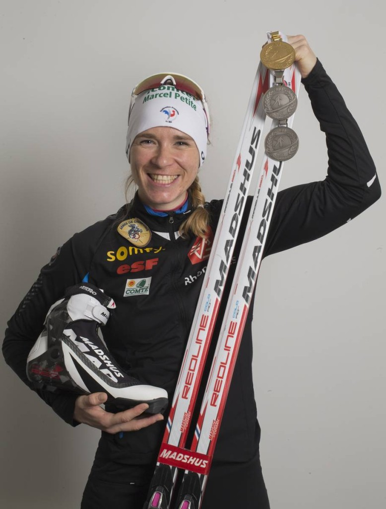 11.03.2016, Oslo, Norway (NOR): Anais Bescond (FRA) - IBU world championships biathlon, medals, Oslo (NOR). www.nordicfocus.com. © NordicFocus. Every downloaded picture is fee-liable.