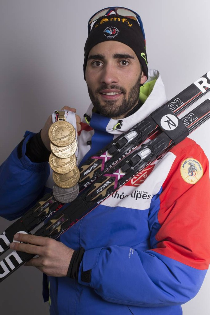 13.03.2016, Oslo, Norway (NOR): Martin Fourcade (FRA) - IBU world championships biathlon, medals, Oslo (NOR). www.nordicfocus.com. © NordicFocus. Every downloaded picture is fee-liable.