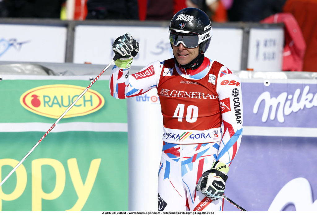 KRANJSKA GORA, SLOVENIA Ð MARCH 04: Cyprien Richard of France in action during the Audi FIS Alpine Ski World Cup MenÕs Giant Slalom on March 04, 2016 in Kranjska Gora, Slovenia. (Photo by Stanko Gruden/Agence Zoom)