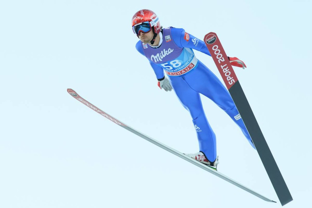 FIS world cup ski jumping, four hills tournament, training, Garmisch (GER)