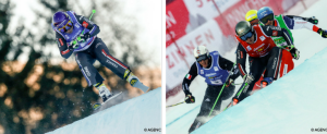 Cadre photo mise en avant ski cross 150117