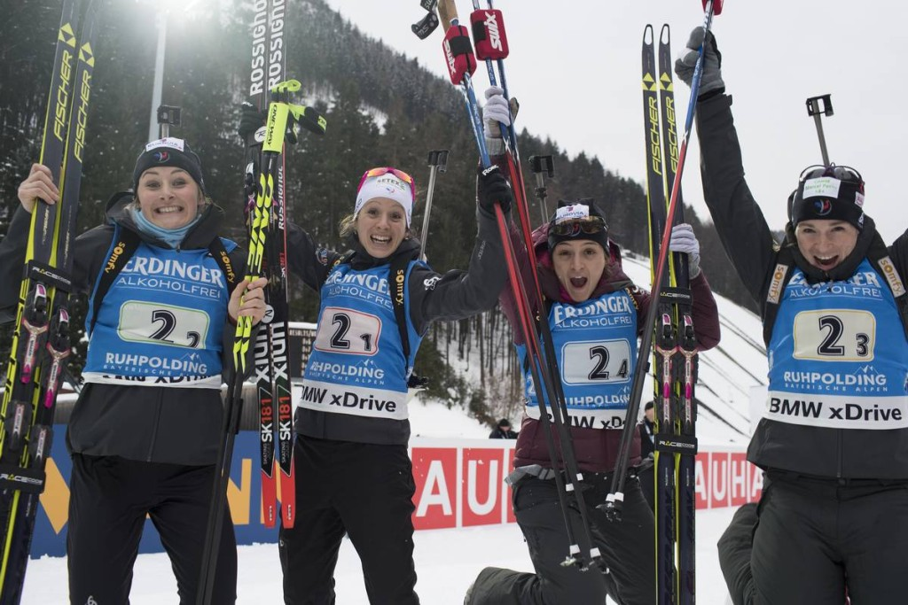 IBU world cup biathlon, relay women, Ruhpolding (GER)