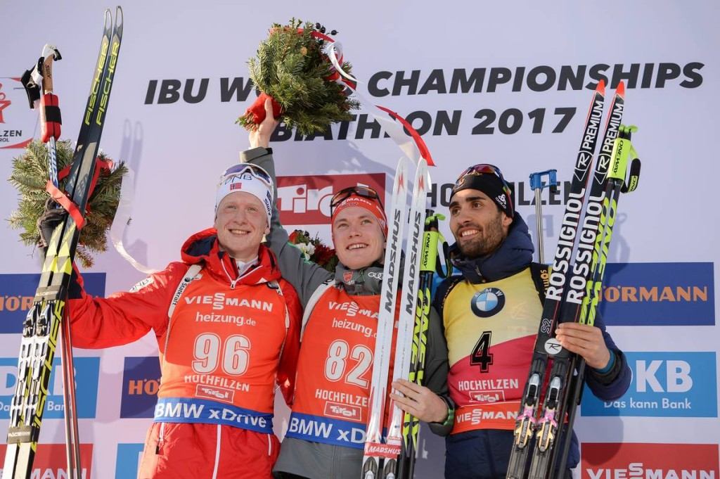 IBU world championships biathlon, sprint men, Hochfilzen (AUT)