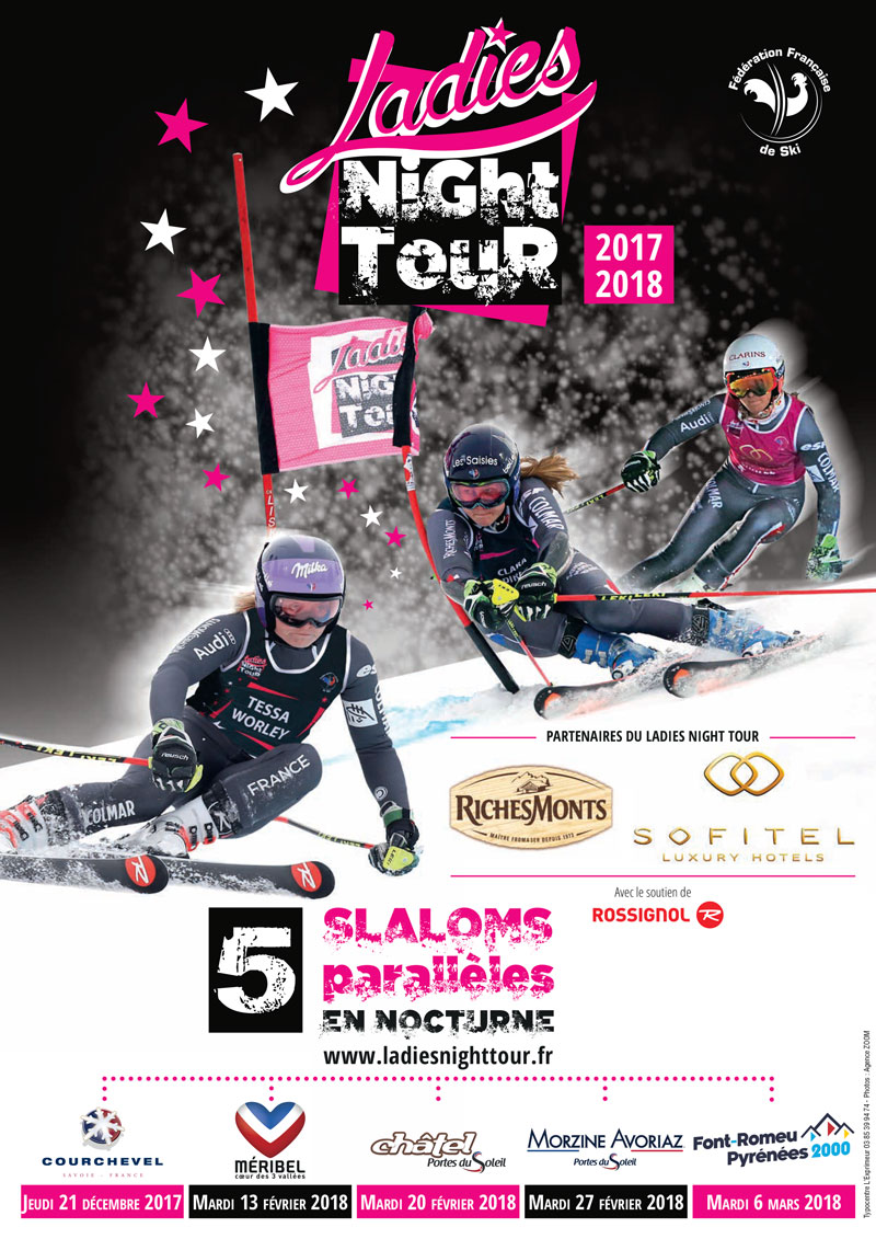 Ski Alpin Calendrier.Ladies Night Tour 2018 Nouveau Calendrier Ffs