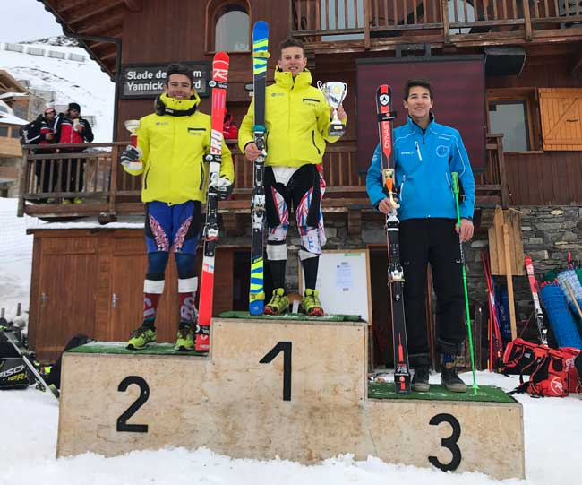 podium U18 GS2 val thorens