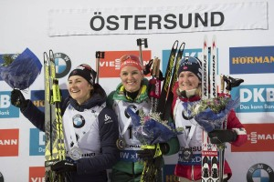 IBU world cup biathlon, pursuit women, Oestersund (SWE)