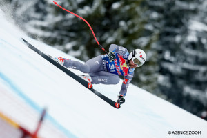 KITZBUEHEL, AUSTRIA - JANUARY 20: Brice Roger of France competes during the Audi FIS Alpine Ski World Cup Men's Downhill on January 20, 2018 in Kitzbuehel, Austria. (Photo by Alexis Boichard/Agence Zoom)
