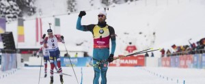 21.01.2018, Antholz, Italy (ITA): Martin Fourcade (FRA) -  IBU world cup biathlon, mass men, Antholz (ITA). www.nordicfocus.com. © Manzoni/NordicFocus. Every downloaded picture is fee-liable.