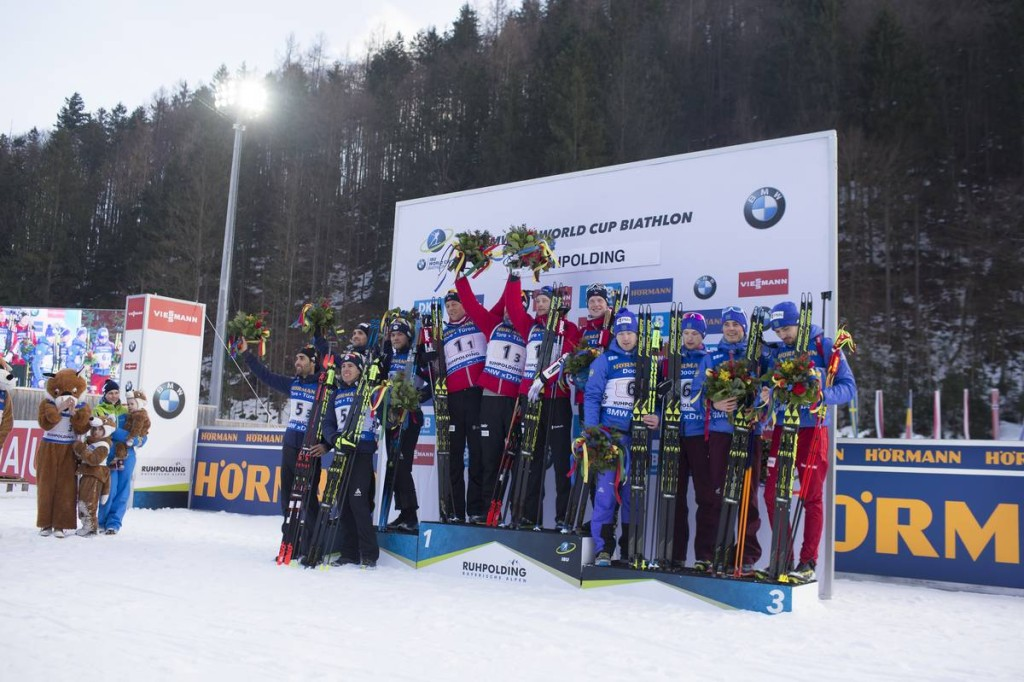 IBU world cup biathlon, relay men, Ruhpolding (GER)