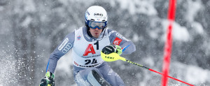 KITZBUEHEL, AUSTRIA - JANUARY 21: Victor Muffat-jeandet of France competes during the Audi FIS Alpine Ski World Cup Men's Slalom on January 21, 2018 in Kitzbuehel, Austria. (Photo by Alexis Boichard/Agence Zoom)