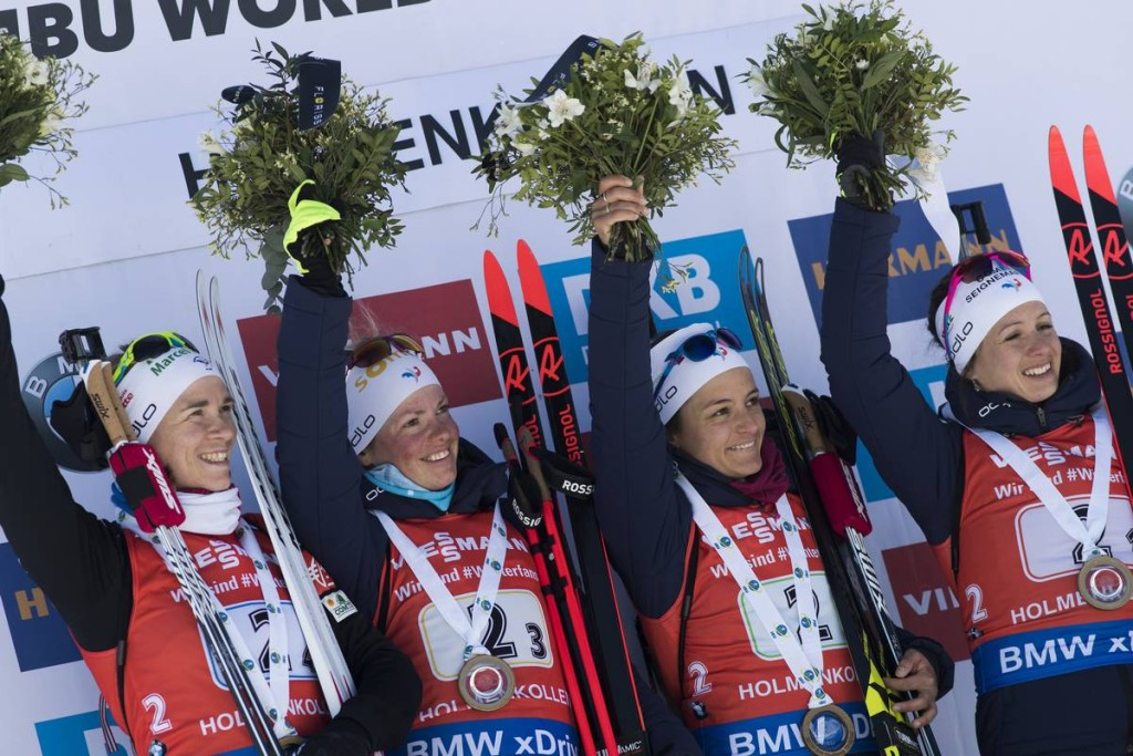 IBU world cup biathlon, relay women, Oslo (NOR)