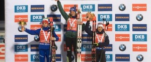 Podium Chevalier biathlon little