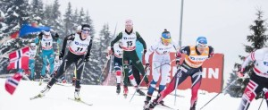 11.03.2018, Oslo, Norway (NOR): Coraline Thomas Hugue (FRA), Nathalie Von Siebenthal (SUI), Stefanie Boehler (GER), Kerttu Niskanen (FIN), Heidi Weng (NOR), (l-r)  - FIS world cup cross-country, mass women, Oslo (NOR). www.nordicfocus.com. © Modica/NordicFocus. Every downloaded picture is fee-liable.