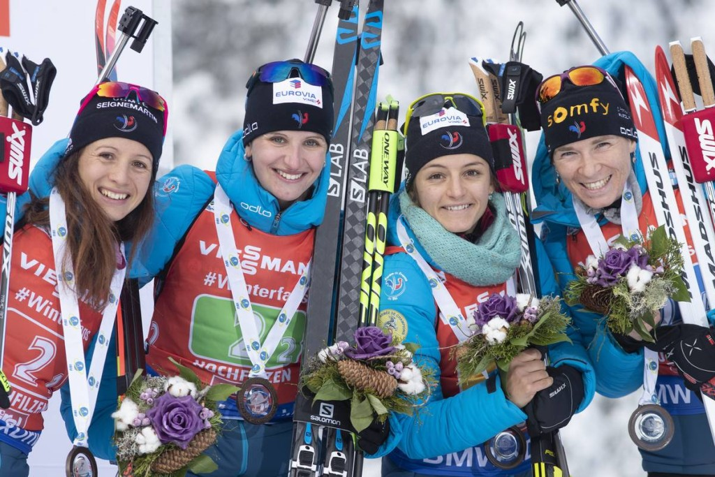 IBU world cup biathlon, relay women, Hochfilzen (AUT)
