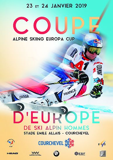 Coupe d'europe ski alpin courchevel affiche