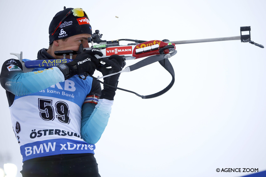 OESTERSUND, SWEDEN - MARCH 13: Quentin Fillon Maillet of France in action during the IBU Biathlon World Championships Men's 20km on March 13, 2019 in Oestersund, Sweden. (Photo by Christophe Pallot/Agence Zoom)