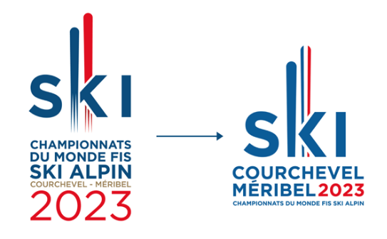 logo courchevel méribel 2023